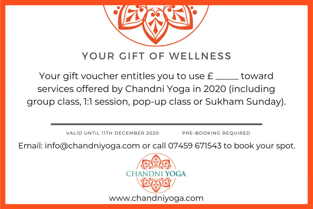 Chandni Yoga Christmas Gift Voucher 20192020